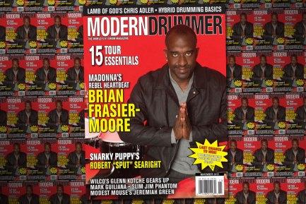 November 2015 Issue of Modern Drummer featuring Brian Frasier-Moore