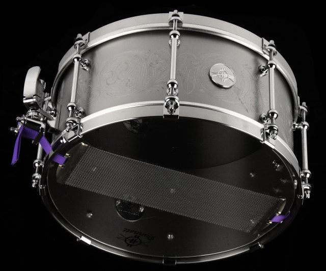The Dunnett Titanium snare drum. The company is at the forefront of independent drum manufacturers that have played an important role in drum design evolution.