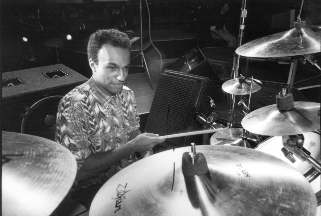 Manu Katché's stylish use of splash cymbals helped define hit records by Peter Gabriel, Sting, and Robbie Robertson.