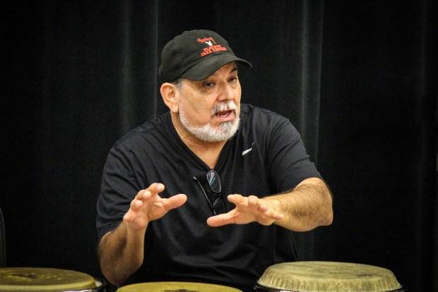 Latin-Jazz Great Poncho Sanchez Conducts Clinic for University of Nebraska-Lincoln Students