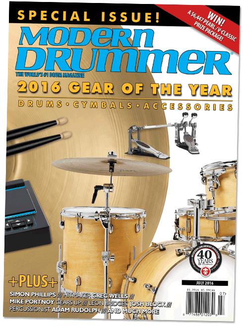 2016 Gear of the Year Issue Modern Drummer magazine