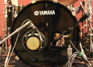 Bass drum mic placement
