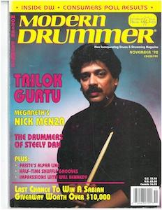 November 92 Modern Drummer
