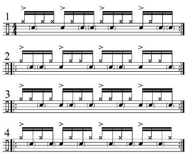 Paradiddles and 16th-Note Subdivisions 1