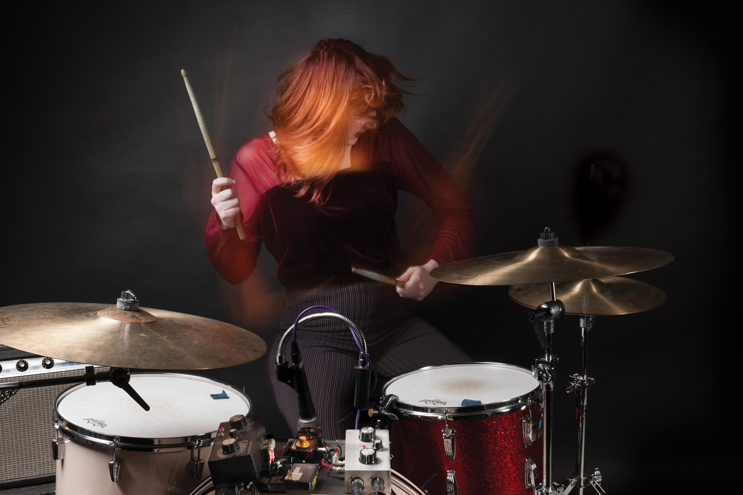 Lia Braswell of A Place to Bury Strangers - Modern Drummer