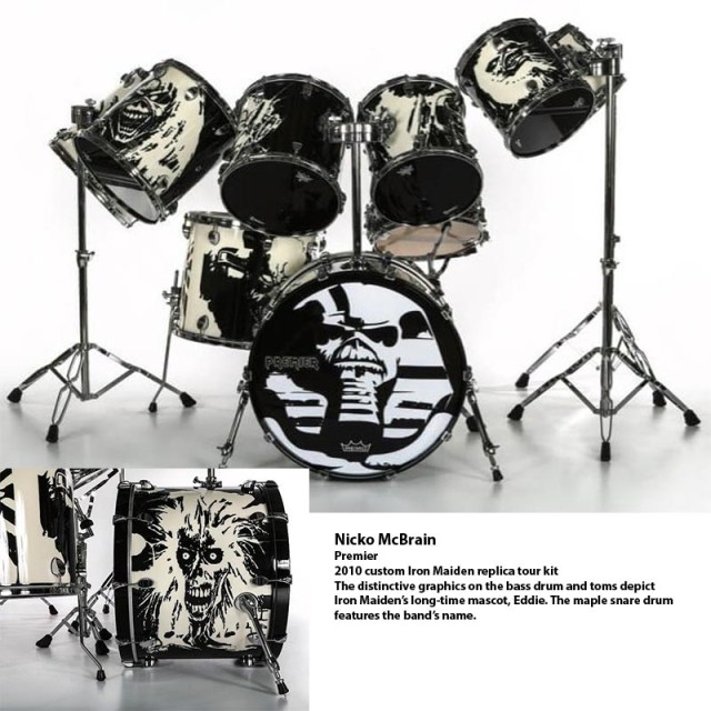 Nicko McBrain kit