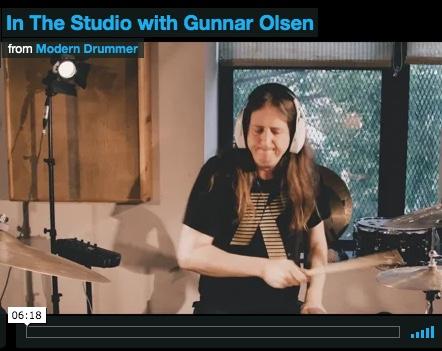 In the Studio with Gunnar Olsen - Modern Drummer Magazine