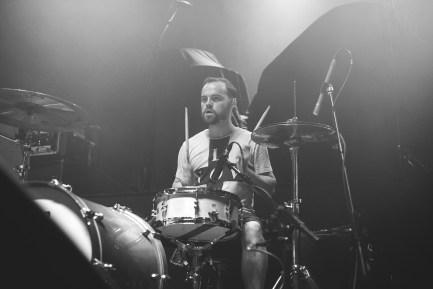 Drummer Brandon Mullins of Beartooth