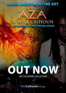 Will Calhoun Takes Rhythm to Canvas with New Art Release