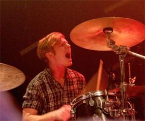 Drummer Andrew McFarland of Reptar