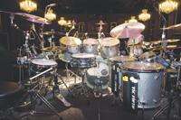 Jimmy Chamberlin's drumkit setup