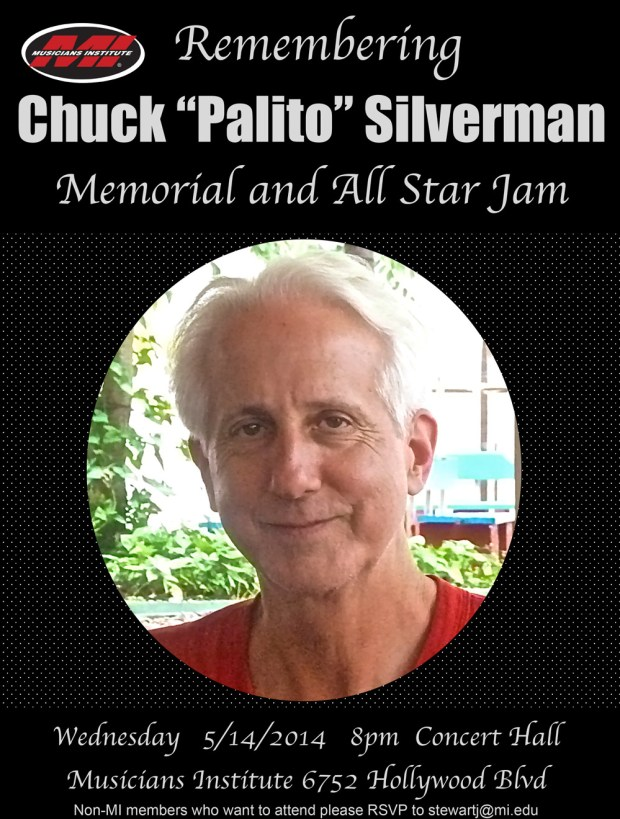 Chuck Silverman Memorial at Musicians Institute May 14, 2014