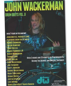 News: John Wackerman's Drum Duets Volume II Features Duets With Chambers, Hawkins, Bozzio, Lang, and More
