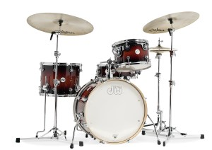 dw Frequent Flyer drumkit  tobacco burst