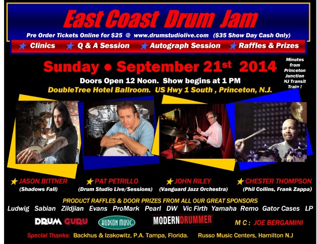 East Coast Drum Jam Set for September 21st