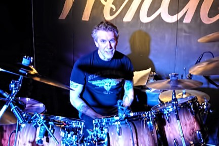 Drummer Jim Dudash of the Krypton Monkeys