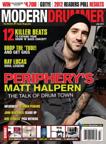 July 2012 Issue of Modern Drummer Magazine