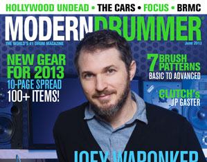 June 2013 Issue of Modern Drummer featuring Joey Waronker