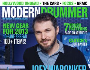 June 2013 Issue of Modern Drummer featuring Joey Waronker