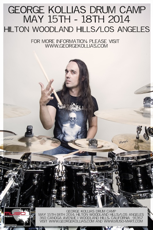 Nile's George Kollias to Conduct Drum Camp in Los Angeles
