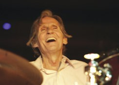 Drummer Levon Helm playing live