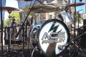 Drummer Matt Starr's finished drumkit