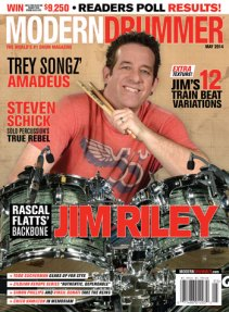 Modern Drummer May 2014 Cover Featuring Jim Riley