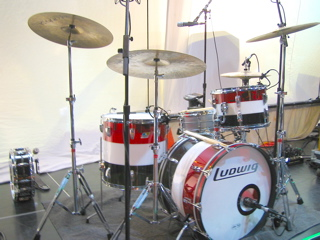 Ned Brower of Ronney's drumkit
