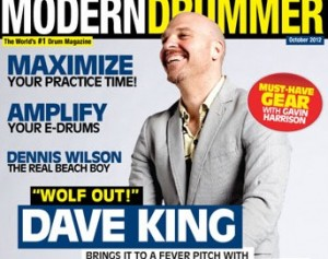 Dave King on the October 2012 Cover of Modern Drummer