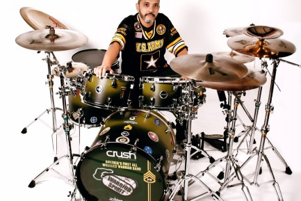 Drummer Paul Delacerda of Wounded Warrior