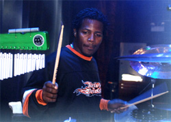 "Drummer for ""American Idol"" winner Taylor Hicks Felix ""D'kat"" Pollard"