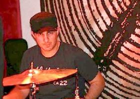 Drummer Rich Scannella with John Eddie