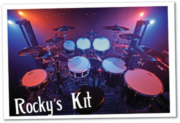 Drummer Rocky Gray of Evanescence's drum setup