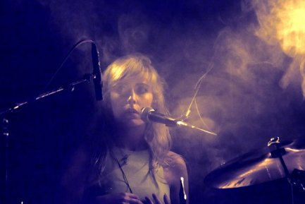 Drummer Rosie Slater of New Myths