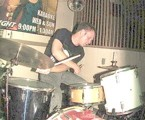 drummer Ryan Brundage of Experimental Dental School