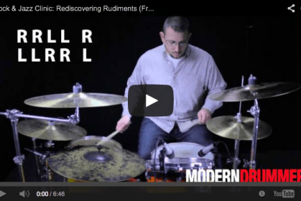 VIDEO! Rock & Jazz Clinic: Rediscovering Rudiments (January 2014)