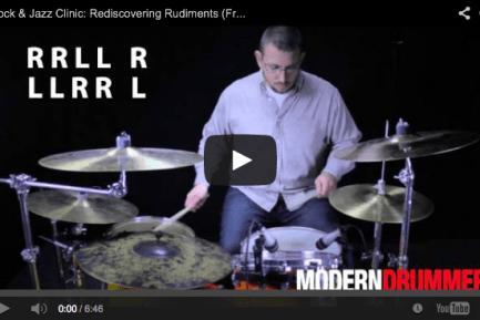 VIDEO! Rock & Jazz Clinic: Rediscovering Rudiments (January 2014)