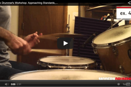 VIDEO! Jazz Drummer's Workshop: Approaching Standards, Part 3: Language and Vernacular (February 2014 Issue)