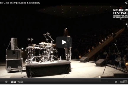 VIDEO - Benny Greb at the 2013 Meinl Drum Festival