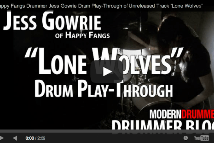 Drummer Blog: Happy Fangs' Jess Gowrie Shares Play-Through Video of Unreleased Track