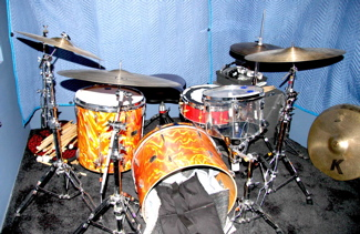 Brian Reitzel's Studio drum set