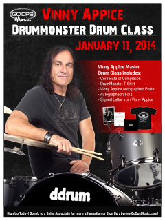 Rock Drummer Vinny Appice to Conduct Online Master Class