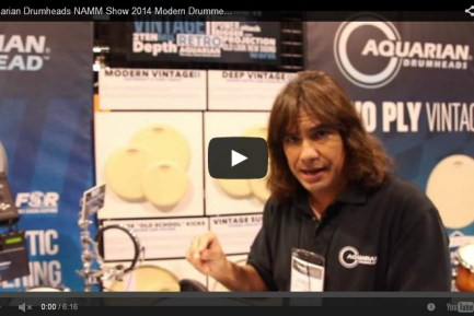 VIDEO - Aquarian Drumheads NAMM Show 2014 New Gear Coverage