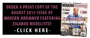 Order A Print Copy of the August 2013 Issue of Modern Drummer Featuring Zigaboo Modeliste