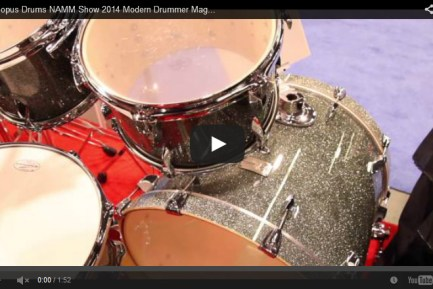 VIDEO Canopus Drums NAMM Show 2014 Modern Drummer Magazine New Gear Coverage