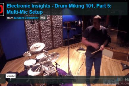 VIDEO LESSON! Drum Miking 101, Part 5: Multi-Mic Setup
