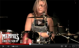 Hannah Ford at Memphis Drum Shop Video