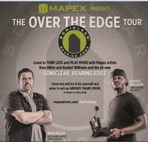"Mapex ""Over the Edge Tour"" With Russ Miller and Rashid Williams"