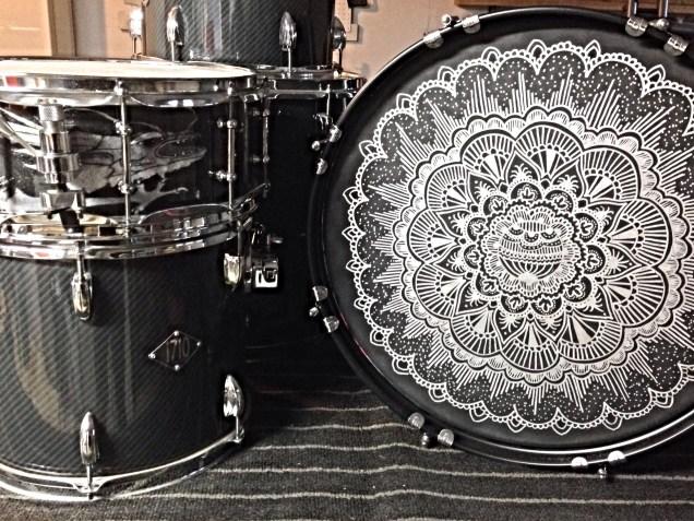 Acrylic Customz creates custom bass drum heads of any size!