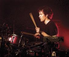 Drummer Mario Calire of Ozomatli